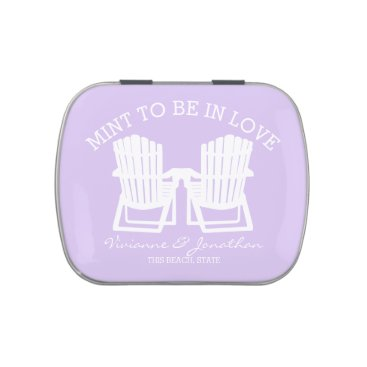Beach Themed Adirondack Chairs Lavender Mint To Be Jelly Belly Tin