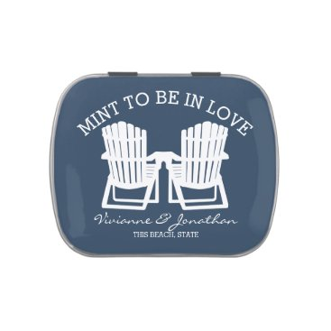 Beach Themed Adirondack Chairs Navy Blue Mint To Be Candy Tin