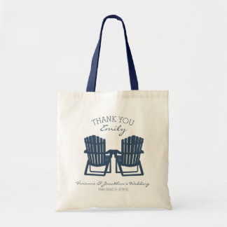 Adirondack Chairs Navy Blue Tote Bag