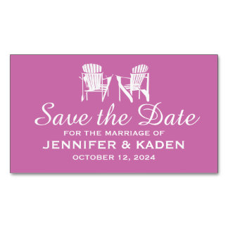 Adirondack Chairs ORCHID | Save the Date Magnetic Business Card
