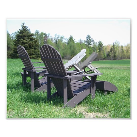 Adirondack Chairs Photo Print