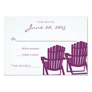 Adirondack Chairs Plum Beach Wedding Response Card