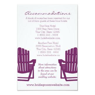 Adirondack Chairs Plum Intinerary Card