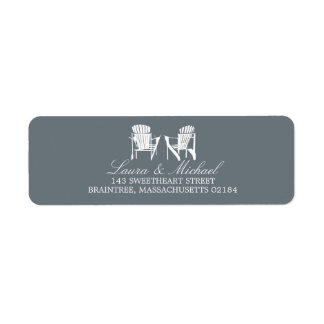 Adirondack Chairs | Return Address Label