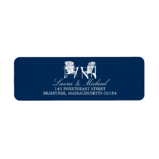 Adirondack Chairs   Return Address Label