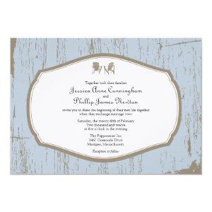Adirondack Chairs Rustic Wedding Invites
