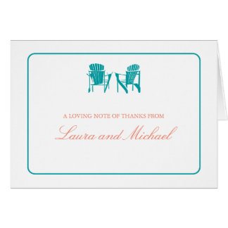 Adirondack Chairs Thank You Greeting Card