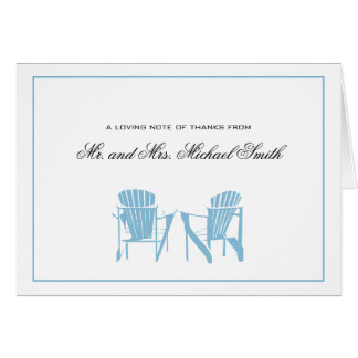 Adirondack Chairs Thank You Greeting Cards