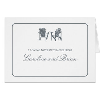Adirondack Chairs Thank You Card
