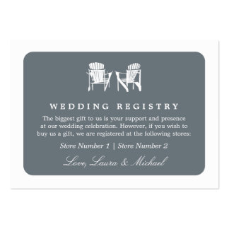 Adirondack Chairs | Wedding Bridal Gift Registry Business Card Template