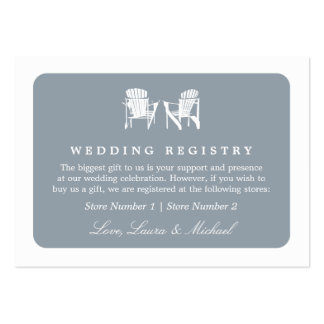 Adirondack Chairs | Wedding Bridal Gift Registry Business Cards