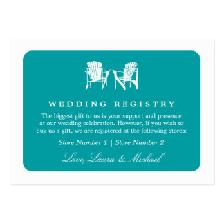 Adirondack Chairs | Wedding Bridal Gift Registry Business Card Templates