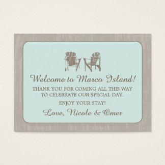 Adirondack Chairs | Wedding Favor Tag