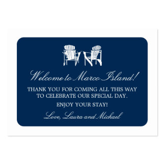 Adirondack Chairs | Wedding Favor Tag Large Business Card