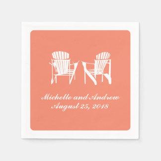 Adirondack Chairs   Wedding Standard Cocktail Napkin