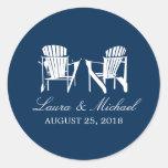 Adirondack Chairs | Wedding Round Sticker