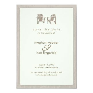 Adirondack Chairs Wedding Save the Date Personalized Invites