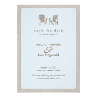 Adirondack Chairs Wedding Save the Date Invitations