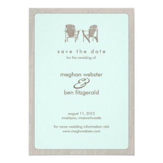 Adirondack Chairs Wedding Save the Date Announcement