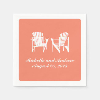 Adirondack Chairs Wedding Disposable Napkins