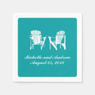 Adirondack Chairs   Wedding Disposable Napkin