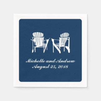 Adirondack Chairs   Wedding Paper Napkin