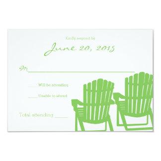Adirondack Chairs Zigzag Wedding Response Card