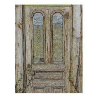Adirondack Door and Reflected Sky Postcard