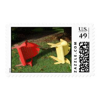 Adirondack fish chairs postage stamp