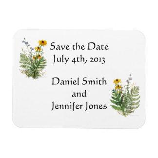 Adirondack floral - ahorre el imán de la fecha