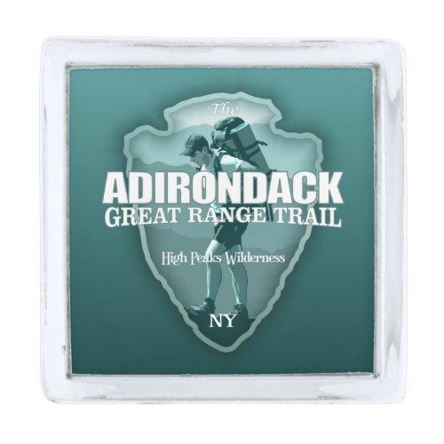 Adirondack Great Range Trail (arrow T) Silver Finish Lapel Pin