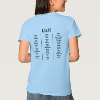 Adirondack High Peaks List Women's T-Shirt