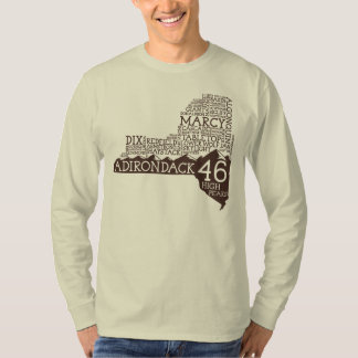 Adirondack High Peaks Long Sleeve T-Shirt(Brown) Tshirt