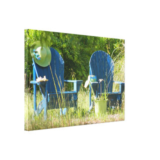 Adirondack Lawn Chairs Canvas Print