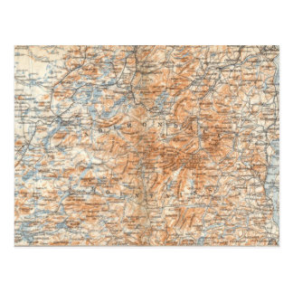 Adirondack Map Postcard