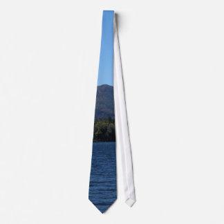 Adirondack Mountain, Lake and Sky Panorama Tie