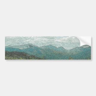 Adirondack Mountain Peaks Panorama Bumper Sticker