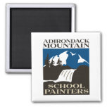 Adirondack Mountain School Painters Magnet