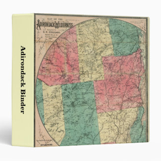 Adirondack Mountains and Park Map 3 Ring Binder