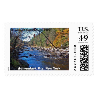 Adirondack Mts, N.Y. Postage Stamp