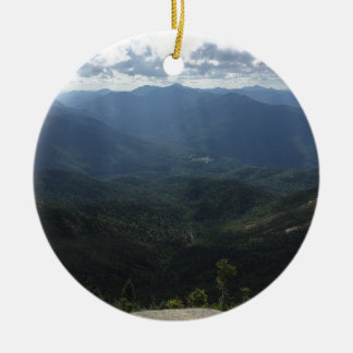 Adirondack Range from Giant Mountain Double-Sided Ceramic Round Christmas Ornament