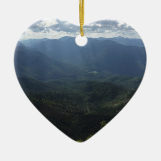 Adirondack Range from Giant Mountain Double-Sided Heart Ceramic Christmas Ornament