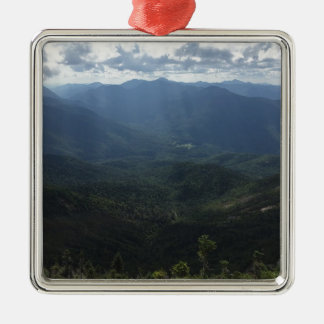 Adirondack Range from Giant Mountain Square Metal Christmas Ornament