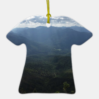 Adirondack Range from Giant Mountain Double-Sided T-Shirt Ceramic Christmas Ornament