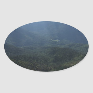 Adirondack Range from Giant Mountain Oval Sticker