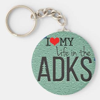 Adirondack Round Button Keychain