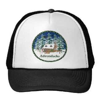 Adirondack Winter Cabin Trucker Hat