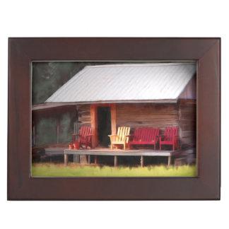 Adirondacks de la cabina cajas de recuerdos