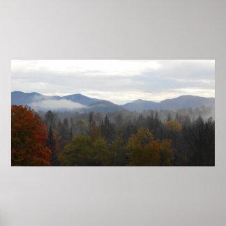 Adirondacks High Peaks Mountains Autumn Print