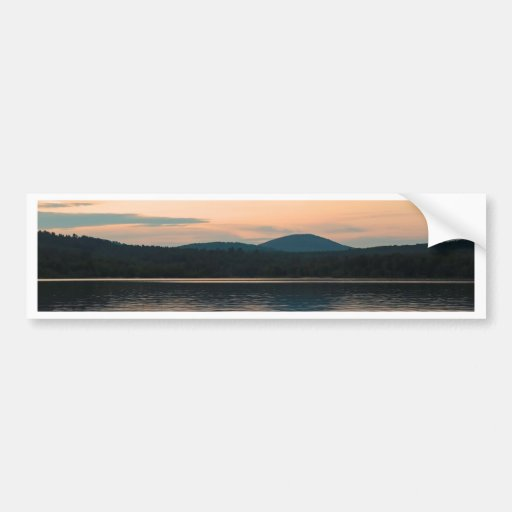 Adirondacks Long Lake Sunset Car Bumper Sticker